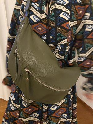 Borse in Pelle Italy Crossbody bag olive green leather
