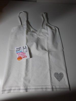 XXS shirt weiß mit Herz Primark