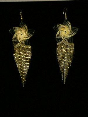 Unbekannte Marke Bungeloorbellen goud Gemengd weefsel
