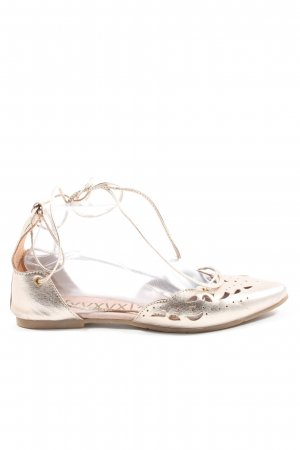 Xyxyx Strappy Ballerinas gold-colored casual look