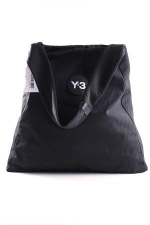 Y-3 Schultertasche schwarz Schriftzug gedruckt Casual-Look