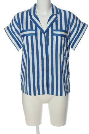 y.a.s Hemd-Bluse blau-weiß Allover-Druck Casual-Look