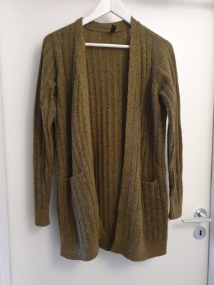 YAS Knitted Coat olive green-khaki