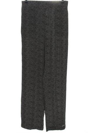 y.a.s Spodnie Marlena czarny-biały Na całej powierzchni W stylu casual