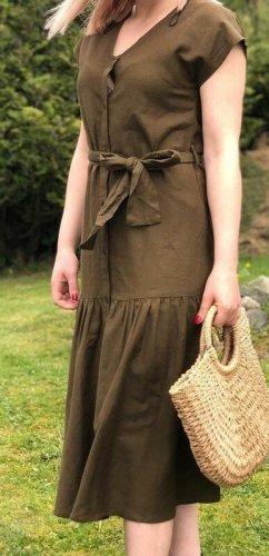 YAS Midi Dress khaki cotton