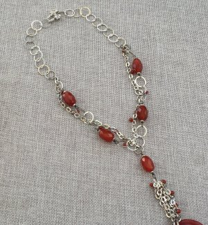 Maren Gilzer Statement Necklace silver-colored-russet