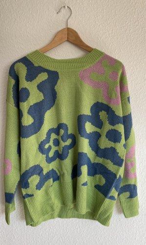 Y2k grün Vintage Pullover