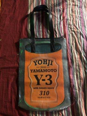 Yohji Yamamoto Shopper black-orange