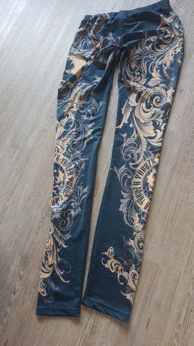 Yakuza Leggings light orange-steel blue