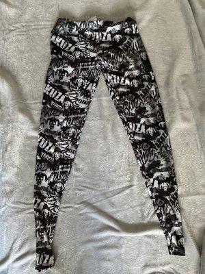 Yakuza Leggings bianco-nero