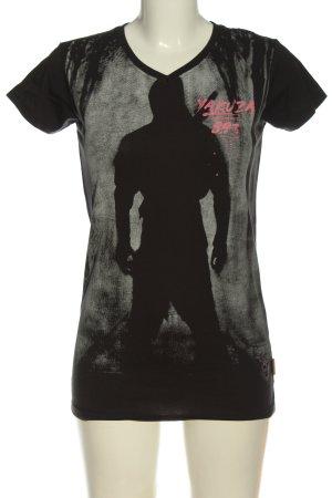 Yakuza Print-Shirt Motivdruck Casual-Look