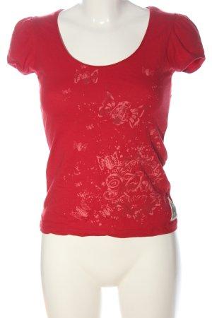 Yakuza Print Shirt red themed print casual look