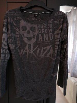 Yakuza Print Shirt black-anthracite