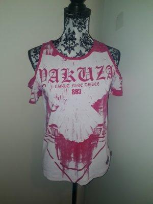 Yakuza Batik Shirt white-neon pink