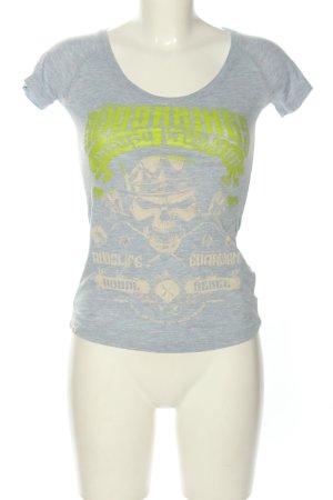 Yakuza T-Shirt Motivdruck Casual-Look