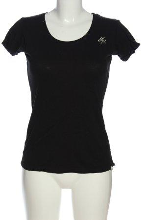 Yakuza T-Shirt schwarz-wollweiß Motivdruck Casual-Look