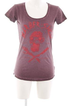 Yakuza T-Shirt rot Motivdruck Casual-Look