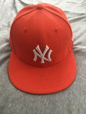 New Era Cappello arancio neon-bianco