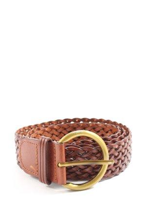 Yargici Cinturón trenzado marrón look casual