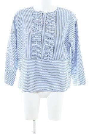 Yargici Hemd-Bluse blau-weiß Streifenmuster Business-Look