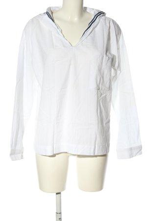 Yargici Langarm-Bluse weiß-schwarz Streifenmuster Casual-Look