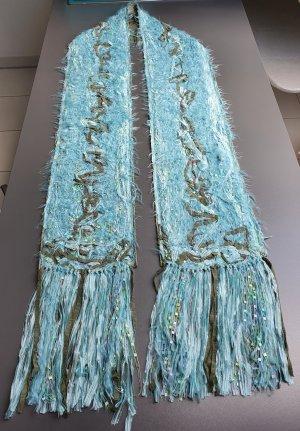 yarndesign kleve Handgefertigter Schal aus Wolle und Seide