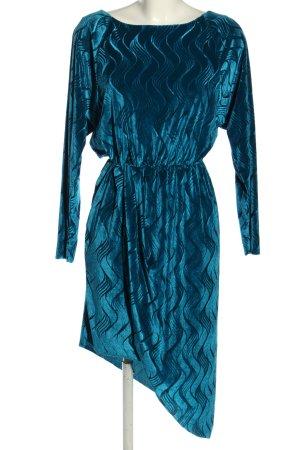 YAS Abendkleid blau grafisches Muster Elegant