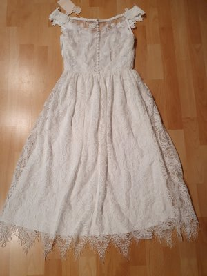 YAS Abito in pizzo bianco