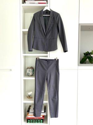 YAS Traje de pantalón gris