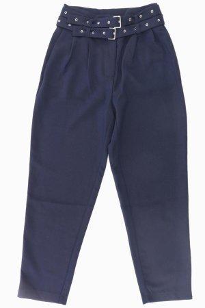 YAS Hose mit Gürtel Größe S blau aus Polyester
