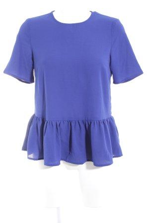 YAS Kurzarm-Bluse blau Elegant