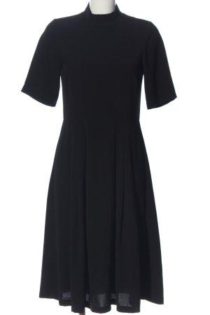 YAS Kurzarmkleid schwarz Elegant