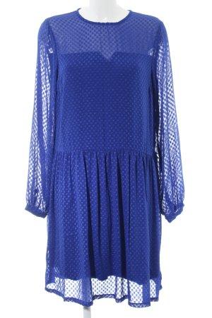 YAS Langarmkleid blau grafisches Muster Elegant