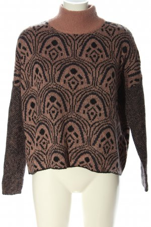 YAS Oversized Pullover schwarz-grün Allover-Druck Casual-Look