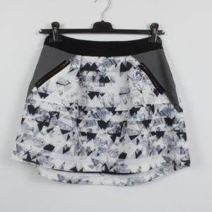 YAS Skaterska spódnica Wielokolorowy Tkanina z mieszanych włókien