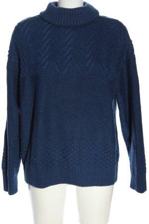 YAS Rollkragenpullover blau Casual-Look