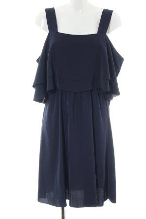 YAS schulterfreies Kleid blau Elegant