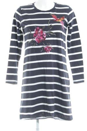 YAS Shirtkleid dunkelblau-weiß Streifenmuster Casual-Look