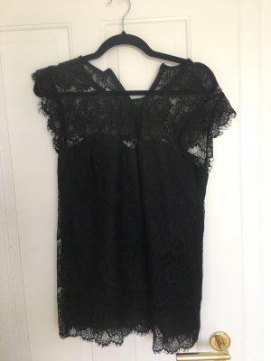 Yas Spitzen Shirt Schwarz Gr.36 Wie Neu