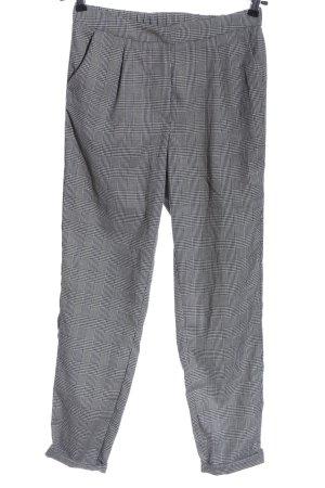YAS Pantalone jersey bianco-nero motivo a quadri stile casual