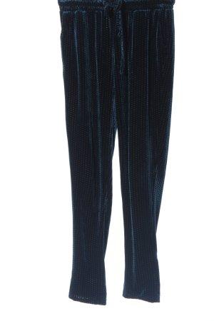 YAS Pantalone jersey nero-blu stampa integrale stile casual