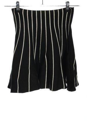 YAS Jupe stretch noir-blanc motif rayé style décontracté