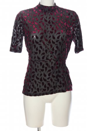 YAS Transparenz-Bluse rot-schwarz Casual-Look
