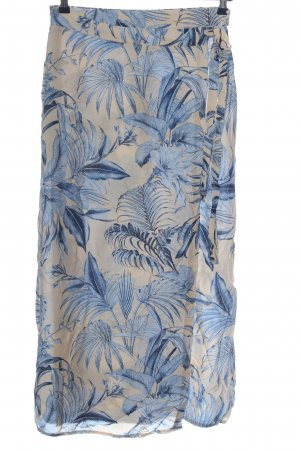 YAS Wraparound Skirt natural white-blue allover print casual look
