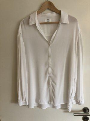 Yaya Bluzka oversize biały Tkanina z mieszanych włókien