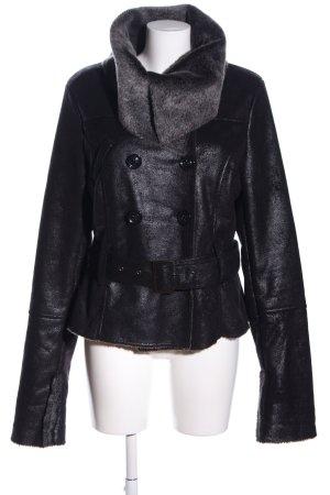 Yaya Fake Fur Jacket black casual look
