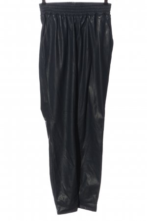 Yaya Faux Leather Trousers black casual look