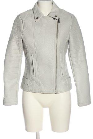 Yaya Faux Leather Jacket light grey casual look