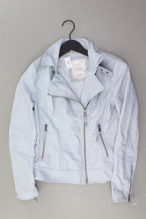 Yaya Faux Leather Jacket blue-neon blue-dark blue-azure polyurethane