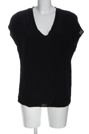 Yaya Short Sleeved Blouse black casual look